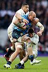 England's Luther Burrell, England's Jonny May and Italy's Sergio Parisse (Captain) - RBS 6 Nations - England vs Italy - Twickenham Stadium - London - 14/02/2015 - Pic Charlie Forgham-Bailey/Sportimage
