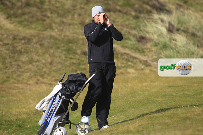 Sean Towndrow (Southport &amp; Ainsdale) on the 9th fairway during Round 3 of the Flogas Irish Amateur Open Championship 2017 at Royal County Down on Saturday 13th May 2017.<br /> Photo: Golffile / Thos Caffrey.<br /> <br /> All photo usage must carry mandatory copyright credit     (&copy; Golffile | Thos Caffrey)