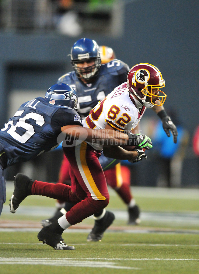Jan. 5, 2008; Seattle, WA, USA; Washington Redskins wide receiver Antwaan Randle El (82) against the Seattle Seahawks during the NFC wild card game at Qwest Field. Seattle defeated Washington 35-14. Mandatory Credit: Mark J. Rebilas-US PRESSWIRE