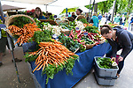Portland Farmers' Market in the Park Blocks near Portland State University, in Portland, Oregon