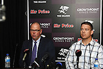 DURBAN - 7 October 2013 - John Smit (right) announces at a press conference that former Springbok coach Jake White (left) will coach the Sharks. Picture: Allied Picture Press/APP