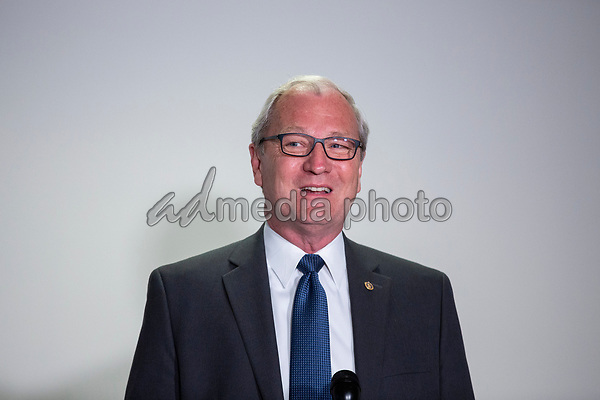 United States Senator Kevin Cramer (Republican of North Dakota) speaks to members of the media as he walks to the Senate GOP Policy Luncheons at the Hart Senate Office Building  in Washington D.C., U.S., on Wednesday, May 20, 2020.  Credit: Stefani Reynolds / CNP/AdMedia