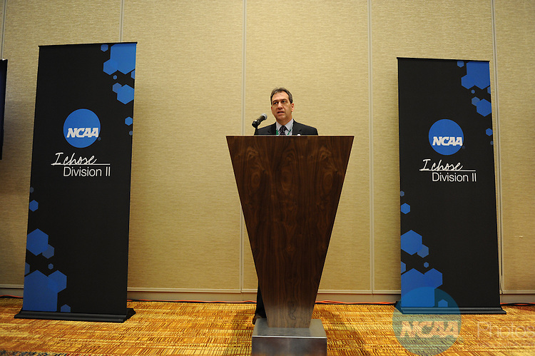 12 JAN 2012:  The NCAA Division II Joint Breakfast  held during the 2012 NCAA Convention held at the JW Marriott and Indianapolis Convention Center in Indianapolis, IN.  Joshua Duplechian/NCAA Photos.Pictured: Drew Bogner