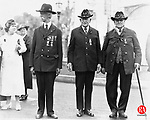 Homer F. Northrup, Niles J. Engelke, and Wales Porter, three of the last four remaining Civil War veterans being honored during the local Grand Army of the Republic Decoration Day in Waterbury, 1935. Not pictured and the fourth remaining Civil War veteran was Edward A. Hough.