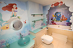 © Joel Goodman - 07973 332324 . 24 June 2013 . Orchid Suite , Beetham Tower , Manchester , UK . Finding Nemo themed children's bathroom . Former triplex apartment home of Phil and Julie Neville , which is up for rent and thought to be the most expensive in Manchester . Photo credit : Joel Goodman