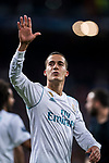 Lucas Vazquez of Real Madrid celebrates after the UEFA Champions League Semi-final 2nd leg match between Real Madrid and Bayern Munich at the Estadio Santiago Bernabeu on May 01 2018 in Madrid, Spain. Photo by Diego Souto / Power Sport Images
