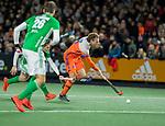 AMSTELVEEN - Bob de Voogd (Ned)  tijdens de hockeyinterland Nederland-Ierland (7-1) , naar aanloop van het WK hockey in India.  COPYRIGHT KOEN SUYK