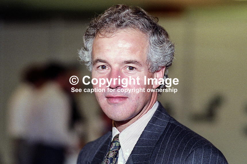 Michael Jack, MP, Conservative Party, UK, 19921054MJ.<br /> <br /> Copyright Image from Victor Patterson,<br /> 54 Dorchester Park, <br /> Belfast, UK, BT9 6RJ<br /> <br /> t1: +44 28 9066 1296 (from Rep of Ireland 048 9066 1296)<br /> t2: +44 28 9002 2446 (from Rep of Ireland 048 9002 2446)<br /> <br /> m: +44 7802 353836<br /> <br /> e: victorpatterson@me.com<br /> www.victorpatterson.com<br /> <br /> Please see my Terms and Conditions of Use at www.victorpatterson.com. It is IMPORTANT that you familiarise yourself with them.<br /> <br /> Images used on the Internet must be visibly watermarked i.e. &copy; Victor Patterson<br /> within the body of the image and copyright metadata must not be deleted. Images <br /> used on the Internet have a size restriction of 4kbs and will be chargeable at current<br />  NUJ rates unless agreed otherwise.<br /> <br /> This image is only available for the use of the download recipient i.e. television station, newspaper, magazine, book publisher, etc, and must not be passed on to any third <br /> party. It is also downloaded on condition that each and every usage is notified within 7 days to victorpatterson@me.com<br /> <br /> The right of Victor Patterson to be identified as the author is asserted in accordance with The Copyright Designs And Patents Act (1988). All moral rights are asserted.