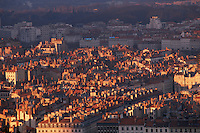 Europe/France/Rhône-Alpes/69/Rhône/Lyon: Quartier des Terreaux vu depuis le clocher de la basilique Notre-Dame-de-Fourvière