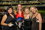 Cindy Lones, Stefanie Duke, Kristi Eaton and Tracy Hendrix at the Astros Wives Gala at Minute Maid Park Thursday July 31,2008. (Dave Rossman/For the Chronicle)