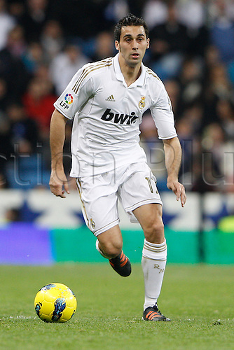22.01.2012. Madrid Spain. La Liga  The match played between  Real Madrid and Athletic Club de Bilbao (4-1)  played at the Santiago Bernabeu Stadium.  Picture show Alvaro Arbeloa Coca (Spanish defender of Real Madrid)