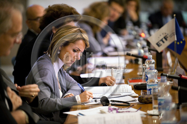 "ROME - ITALY - 18 NOVEMBER 2011 - European Training Foundation (ETF) - Euro-Mediterranean Conference - ""Skills and migration"" - Ministry of Foreign Affaris -  Eva Jimeno Sicilia, ETF - PHOTO Giorgio COSULICH / EUP-IMAGES"