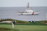 Tommy Fleetwood (ENG) on the 17th green during the 3rd round of the US Open Championship, Pebel Beach Golf Links, Monterrey, Calafornia, USA. 15/06/2019.<br /> Picture Fran Caffrey / Golffile.ie<br /> <br /> All photo usage must carry mandatory copyright credit (© Golffile | Fran Caffrey)