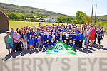Caherdaniel NS the proud recipients of their first Green flag which was presented to the school on Thursday last and and raised on the flagstaff by Mick O'Dwyer, pictured here parents, pupils and staff with Mick O'Dwyer.