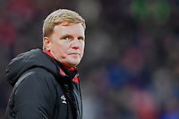 AFC Bournemouth Manager Eddie Howe glances at the scoreboard  during AFC Bournemouth vs Wigan Athletic, Emirates FA Cup Football at the Vitality Stadium on 6th January 2018