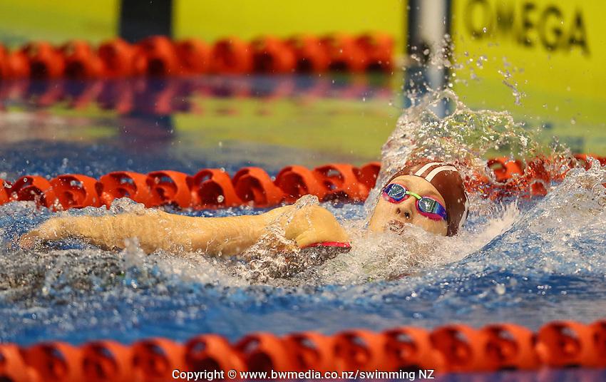 Hope Chmiel. Swimming New Zealand Aon National Age Group Championships, Wellington Regional Aquatic Centre, Wellington, New Zealand, Wednesday 17 April 2019. Photo: Simon Watts/www.bwmedia.co.nz