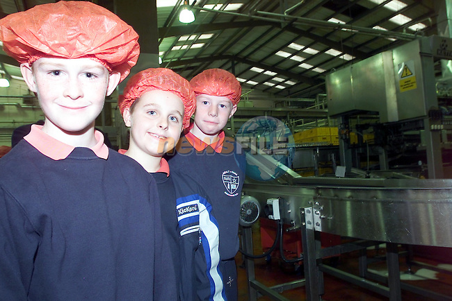 Cillian Hanratty, Jack Anderson and Micheal Brennan watching the coca Cola products being bottled during there visit to the Coca Cola Bottlers plant in Dublin organised by Drogheda Concentrates..Picture Fran Caffrey Newsfile...This Picture is sent to you by:..Newsfile Ltd.The View, Millmount Abbey, Drogheda, Co Louth, Ireland..Tel: +353419871240.Fax: +353419871260.GSM: +353862500958.ISDN: +353419871010.email: pictures@newsfile.ie.www.newsfile.ie