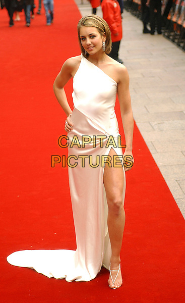 "LADY ISABELLA HERVEY.Attending the ""Mission Impossible 3"" UK premiere, Odeon Leicester Square, London. .April 25th, 2006 .Ref: BEL.full length white one shoulder dress slit split satin.www.capitalpictures.com.sales@capitalpictures.com.© Capital Pictures."