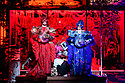 """EMBARGOED UNTIL 23:00 FRIDAY 18 OCTOBER 2019: English National Opera presents """"The Mask of Orpheus"""", by Sir Harrison Birthwhistle, libretto by Peter Zinovieff, at the London Coliseum, in its first London restaging in the 30 years since its premiere, coinciding with the celebration of Sir Harrison's 85th birthday. Directed by Daniel Kramer, with lighting design by Peter Mumford, set design by Lizzie Clachan and costume design by Daniel Lismore. Picture shows: Daniel Norman (Orpheus the Myth, Claire Barnett Jones (Eurydice the Myth)"""