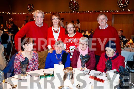 Enjoying the Abbeydorney/Kilfynn Senior Citizens Christmas Party at Ballyroe Heights, Tralee, on Sunday last were front l-r: Joan Moriarty, Margaret Fitzmaurice, Geraldine Riordan and Nora Riordan. Back l-r: Pat Hussey, Joan Hussey, Sadie Parkinson and Patrick Browne.