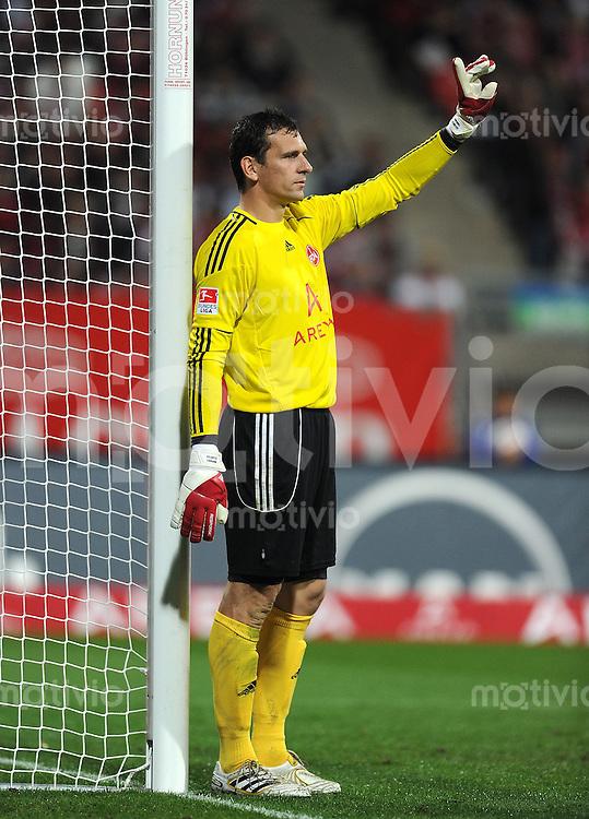 Fussball 1. Bundesliga :  Saison   2010/2011   5. Spieltag   1 FC Nuernberg - VfB Stuttgart  22.09.2010 Jubel Torwart Raphael Schaefer (1 FC Nuernberg)