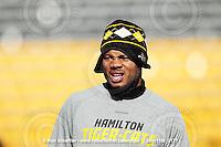 November 6, 2010; Hamilton, Ontario, Canada; Hamilton Tiger-Cats defensive back Geoff Tisdale (9). CFL football: BC Lions vs. Hamilton Tiger-Cats at Ivor Wynne Stadium. The Lions defeated the Tiger-Cats 23-21. Mandatory Credit: Ron Scheffler.