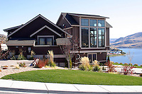This custom home was built on a lot overlooking Lake Chelan and is typical of the style of home being built as a second home