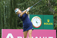 So Yeon Ryu (KOR) tees off the 9th tee during Thursday's Round 1 of The Evian Championship 2018, held at the Evian Resort Golf Club, Evian-les-Bains, France. 13th September 2018.<br /> Picture: Eoin Clarke | Golffile<br /> <br /> <br /> All photos usage must carry mandatory copyright credit (© Golffile | Eoin Clarke)