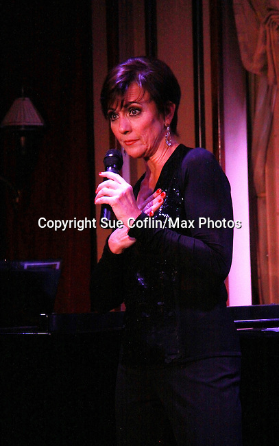 """As The World Turns Colleen Zenk stars in her one-woman cabaret show """"Colleen Zenk - Still Sassy"""" on October 30, 2011 at Feinstein's at Loews Regency, New York City, New York. She shared stories and great songs. (Photo by Sue Coflin/Max Photos)"""