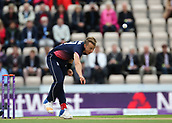 29th September 2017, Ageas Bowl, Southampton, England; One Day International Series, England versus West Indies; Tom Curran of England in bowling action
