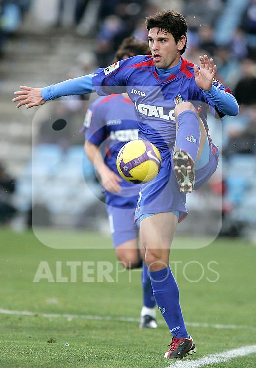 Getafe's Jaime Gavilan during La Liga match, January 25, 2009. (ALTERPHOTOS).