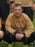 COPY BY TOM BEDFORD<br /> Pictured: Stephen Thomas in the Abercwmboi FC kit<br /> Re: A dad-of-two was taken to hospital after suffering a cardiac arrest during a weekday football match.<br /> Stephen Thomas, fondly known as 'Bogey' to his teammates, was playing for his beloved Abercwmboi FC on Wednesday, September 7 when he collapsed on the field.<br /> The 31-year-old striker had just scored for the Aberdare Valley League side against Ynys View when he began to feel unwell and then lost consciousness.<br /> Four heroic members of the public performed CPR and used a defibrillator to try and shock him back to life.<br /> Thanks to them the Fernhill resident survived and is now recovering in hospital.