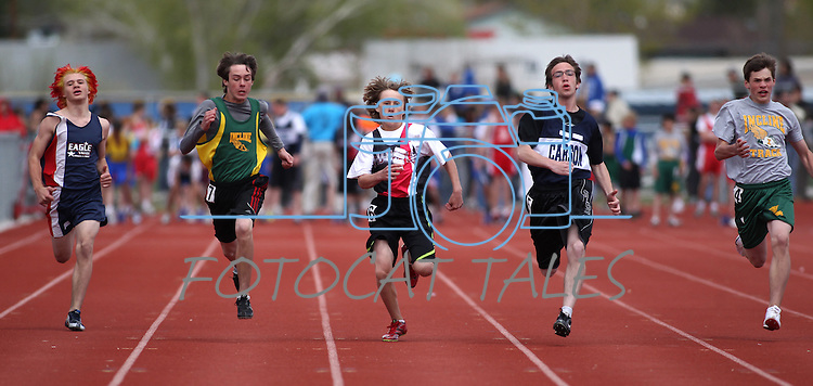 during the Tah-Neva Track Meet at Carson High School  on Wednesday, May 18, 2011, in Carson City, Nev..Photo by Cathleen Allison