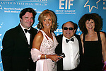 "Nathan Lane, Katie Couric, Danny Devito and Rhea Perlman.Attending the Star-Studded Benefit, ""Some Enchanted Evening"",  for EIF's National Colorectal Cancer Research Alliane and the Jay Monahan Center for Gastrointestinal Health on Cunard's Queen Mary 2 in New York City..April 24, 2004."