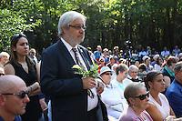 Bürgermeister Heinz-Peter Becker bei der Eröffnung der Lern- und Gedenkstätte