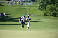Bethesda, MD - June 26, 2016: Harold Varner III and his caddy walk to the 11th hole green during Final Round of play at the Quicken Loans National Tournament at the Congressional Country Club in Bethesda, MD, June 26, 2016.  (Photo by Don Baxter/Media Images International)