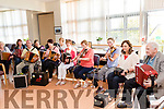 10 accordion players backed by 3 violin players provided great music for the Launch of Margaret Naughton's new Book ' Letting Go ' at the Palliative Day Centre, UHK, Tralee last Friday evening.