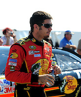Oct 4, 2008; Talladega, AL, USA; NASCAR Sprint Cup Series driver Martin Truex Jr during qualifying for the Amp Energy 500 at the Talladega Superspeedway. Mandatory Credit: Mark J. Rebilas-