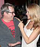 Matthew Broderick and Kelli O'Hara attends the Seth Rudetsky Book Launch Party for 'Seth's Broadway Diary' at Don't Tell Mama Cabaret on October 22, 2014 in New York City.