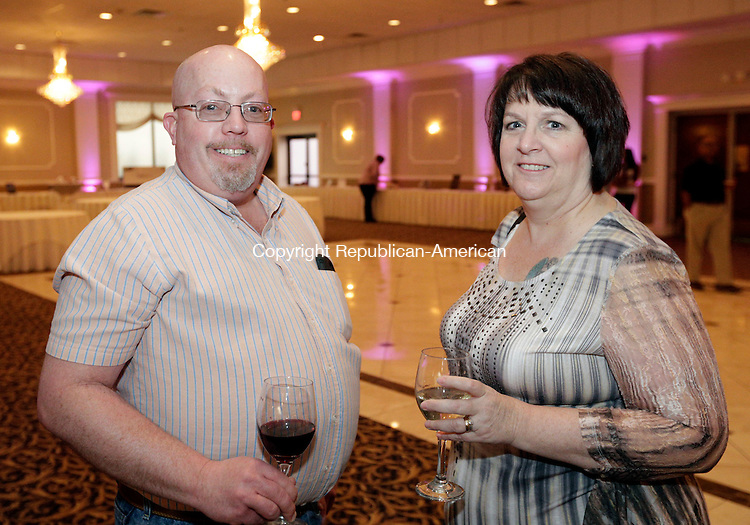 Waterbury, CT- 31 March 2016-033116CM04-  Social moments, from left, Derek and Kathy Brown of Prospect are photographed during  the seventh annual Blue Jeans Ball, hosted by Family Services of Greater Waterbury at La Bella Vista in Waterbury on Thursday, March 3.   Christopher Massa Republican-American