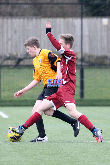 KENNINGTON JUNIORS v CANTERBUY CITY<br /> KENTYOUTH LEAGUE U15 SOUTH 22ND FEB 2015
