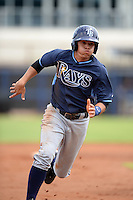 Tampa Bay Rays shortstop Willy Adames (15) during an Instructional League game against the Minnesota Twins on September 16, 2014 at Charlotte Sports Park in Port Charlotte, Florida.  (Mike Janes/Four Seam Images)