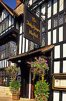 Stratford-upon-Avon. Shakespeare Hotel. England. The town of Stratford in the Midlands is famous as the birthplace and home of William Shakespeare. .