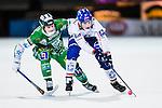 Stockholm 2013-11-26 Bandy Elitserien Hammarby IF - Edsbyns IF :  <br /> Edsbyn Simon Jansson i kamp om bollen med Hammarby Adam Gilljam <br /> (Foto: Kenta J&ouml;nsson) Nyckelord: