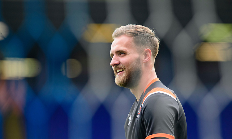 Blackpool's Jak Alnwick during the pre-match warm-up<br /> <br /> Photographer Chris Vaughan/CameraSport<br /> <br /> The EFL Sky Bet League One - Coventry City v Blackpool - Saturday 7th September 2019 - St Andrew's - Birmingham<br /> <br /> World Copyright © 2019 CameraSport. All rights reserved. 43 Linden Ave. Countesthorpe. Leicester. England. LE8 5PG - Tel: +44 (0) 116 277 4147 - admin@camerasport.com - www.camerasport.com