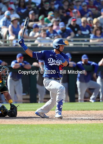 Keibert Ruiz - Los Angeles Dodgers 2020 spring training (Bill Mitchell)