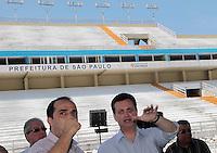 SAO PAULO, SP, 15 DE FEVEREIRO 2012 - VISTORIA SAMBODROMO - Prefeito Gilberto Kassab realiza vistoria o Sambódromo e entrega a chave da cidade à corte do carnaval de São Paulo 2012 na manha dessa quarta-feira, 15 na regiao norte da capital paulsita FOTO: VANESSA CARVALHO - BRAZIL PHOTO PRESS.