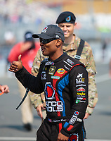 Jul 29, 2018; Sonoma, CA, USA; NHRA top fuel driver Antron Brown during the Sonoma Nationals at Sonoma Raceway. Mandatory Credit: Mark J. Rebilas-USA TODAY Sports
