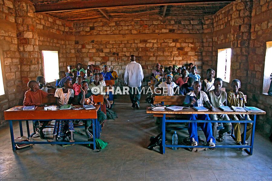 Crianças na escola em pays Dogon. Mali. 2010.  Foto de Caio Vilela.
