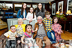 Paddy Joe Murphy from Castleisland, celebrated his 80th birthday last Saturday evening in the Ballygarry house hotel, Tralee, pictured with all his grandkids.
